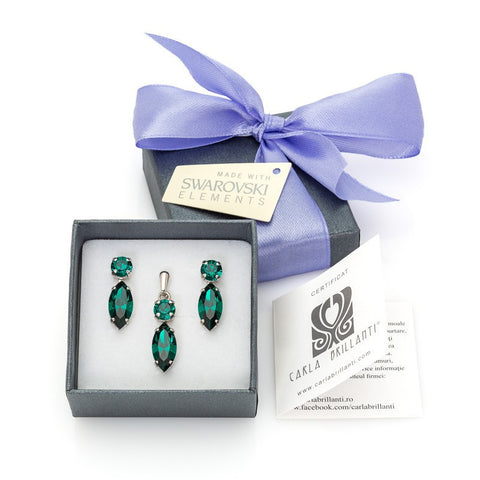 gift jewellery set with Swarovski stones Nicole