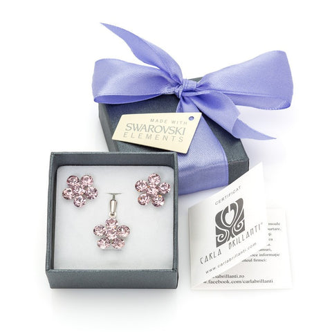 gift jewellery set with Swarovski stones Mya