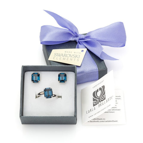 gift jewellery set with Swarovski stones Marlene