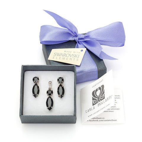 gift jewellery set with Swarovski stones Arianne