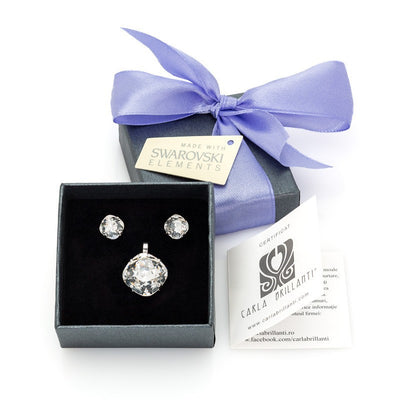 gift jewellery set with Swarovski stones Amaris