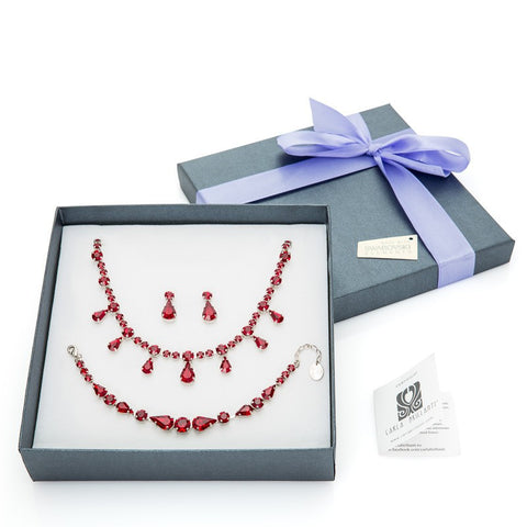 gift jewellery set with Swarovski stones Romantic