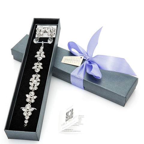 gift jewellery set with Swarovski stones Elise