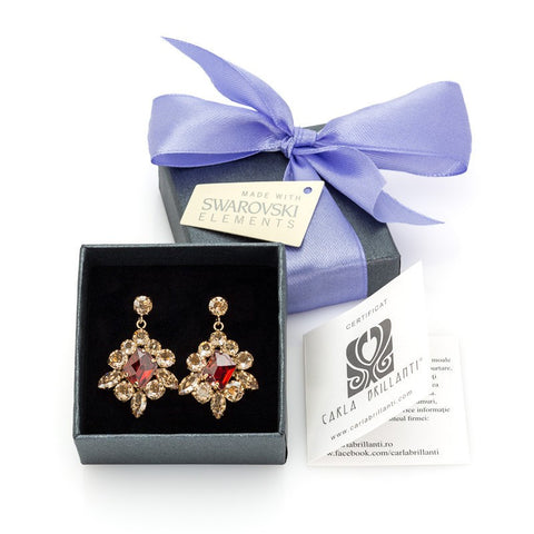 Earrings with Swarovski Viktoria