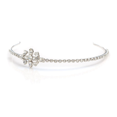 Bridal tiara with Swarovski  code 8209 Crystal white stones