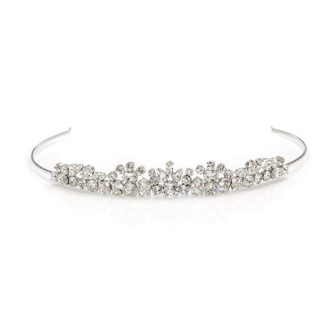 Bridal tiara with Swarovski  code 8220 Crystal white stones