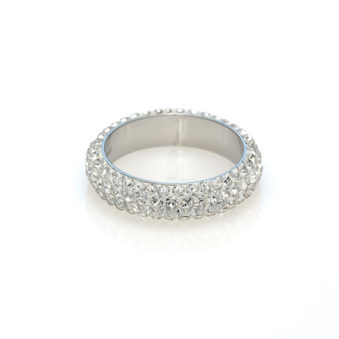 Ring code 7212 Crystal white stones