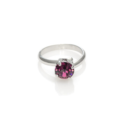 Ring with round Amethyst stone code 7014