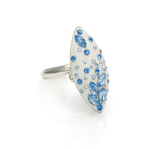 Ring code 7208 with big and tiny Sapphire stones