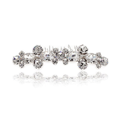 Bridal Hair Ornament with Swarovski 8201 Crystal white stones