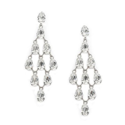 Earrings with Swarovski code 3539 Crystal white stones