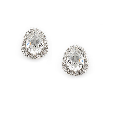 Earrings with Swarovski code 3556 Crystal white stones