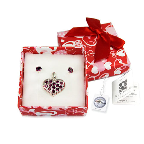 gift jewellery set with Swarovski stones Eliza