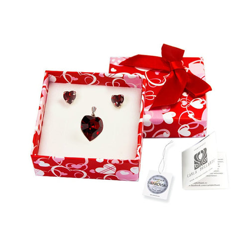 gift jewellery set with Swarovski stones Anda