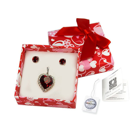 gift jewellery set with Swarovski stones Greta