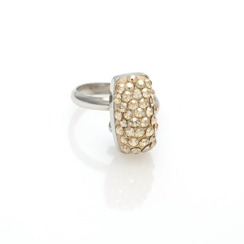 Ring code 7206 with swarovski Golden Shadow tiny stones