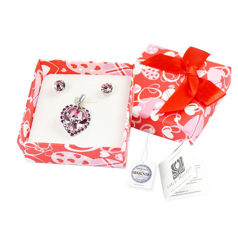 gift jewellery set with Swarovski stones Helena