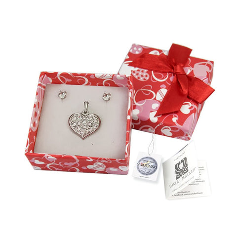gift jewellery set with Swarovski stones Genoveva