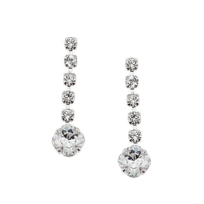 Earrings with Swarovski code 3075L Crystal white stones