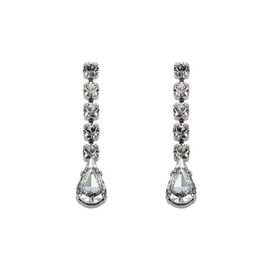Earrings with Swarovski code 3065L Crystal white stones