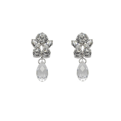 Marielle Small Crystal white stones stone Earrings