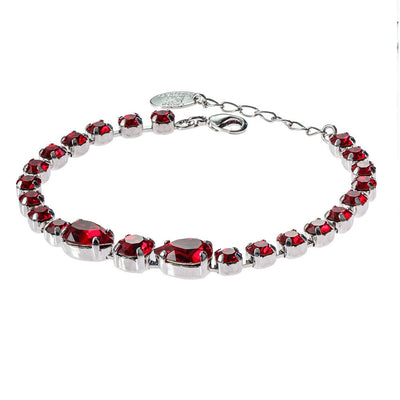Bracelet with Swarovski  code 2103 Siam red stones