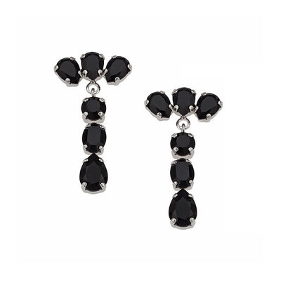 Earrings with Swarovski code 3190 black stones