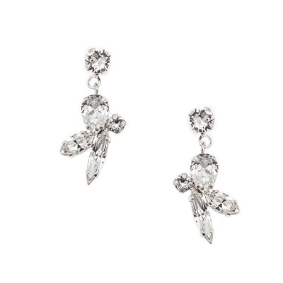Earrings with Swarovski code 3181 Crystal white stones