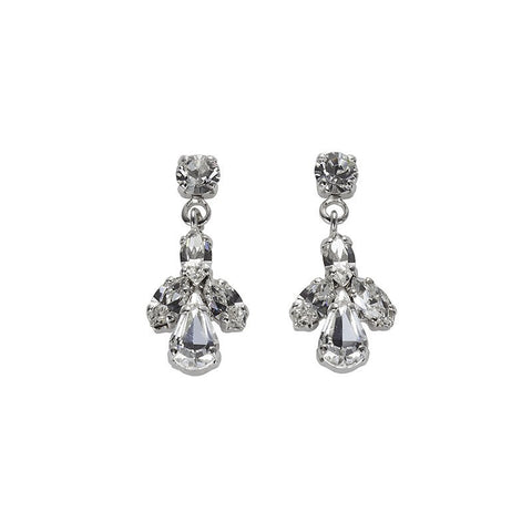 Earrings with Swarovski code 3173 Crystal white stones