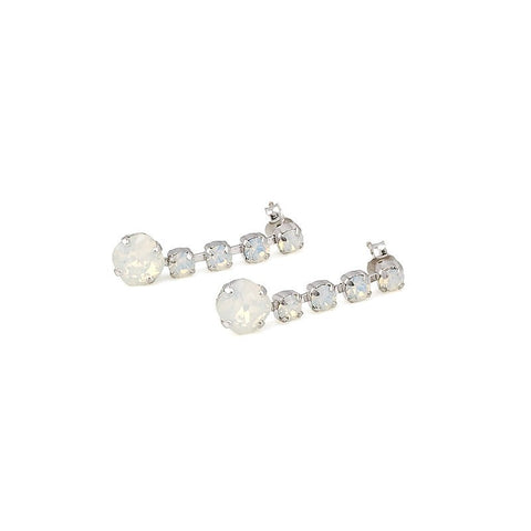 Earrings with Swarovski code 3111 White Opal
