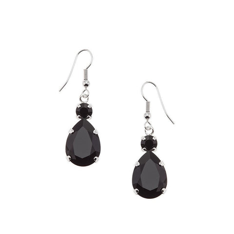 Earrings with Swarovski code 3146 black stones