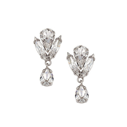 Earrings with Swarovski code 3500 Crystal white stones