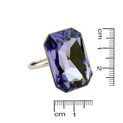 Radiant Octagon Tanzanite Ring