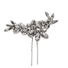 Bridal Hair Ornament with Swarovski 8179 Crystal white stones