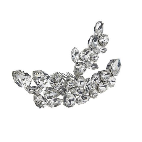 Bridal Hair Ornament with Swarovski 8181 Crystal white stones