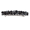 Bridal Hair Ornament with Swarovski 8187 black stones