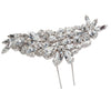 Bridal Hair Ornament with Swarovski 8200 Crystal white stones