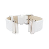 White Sedef Natural Leather Strap for C&B Bracelets
