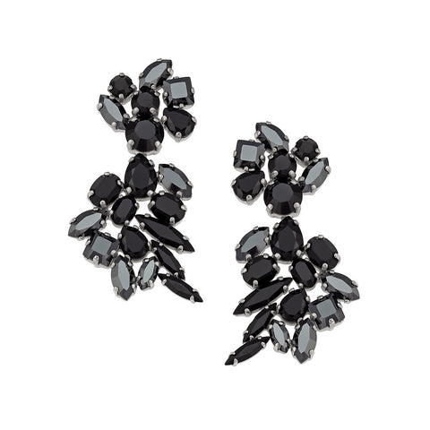 Earrings with Swarovski code 3145 black stones