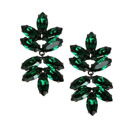 Earrings with Swarovski Beatrice Emerald