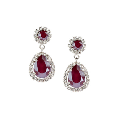 Earrings with Swarovski Emily Royal Red