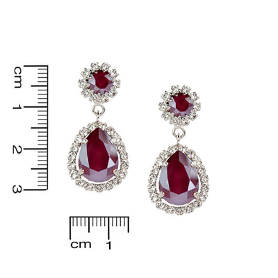 Earrings Emily Royal Red