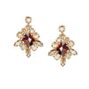 Earrings with Swarovski Viktoria Red Magma