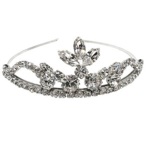 Bridal tiara with Swarovski  code 8150 Crystal white stones