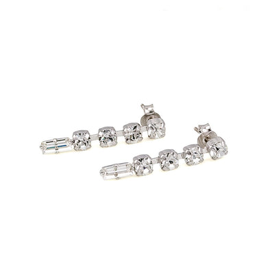 Earrings with Swarovski code 3031L Crystal white stones