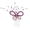 Bridal Hair Pin with Swarovski stones code 8177 Amethyst & Light Amethyst