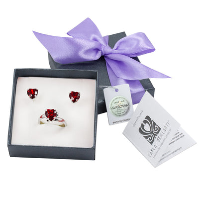 gift jewellery set with Swarovski stones Adelina