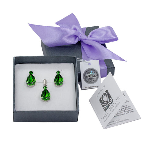 gift jewellery set with Swarovski stones Alma
