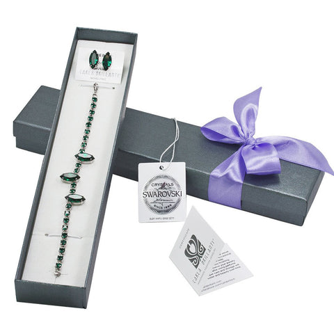 gift jewellery set with Swarovski stones Amina