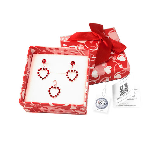 gift jewellery set with Swarovski stones Catrina